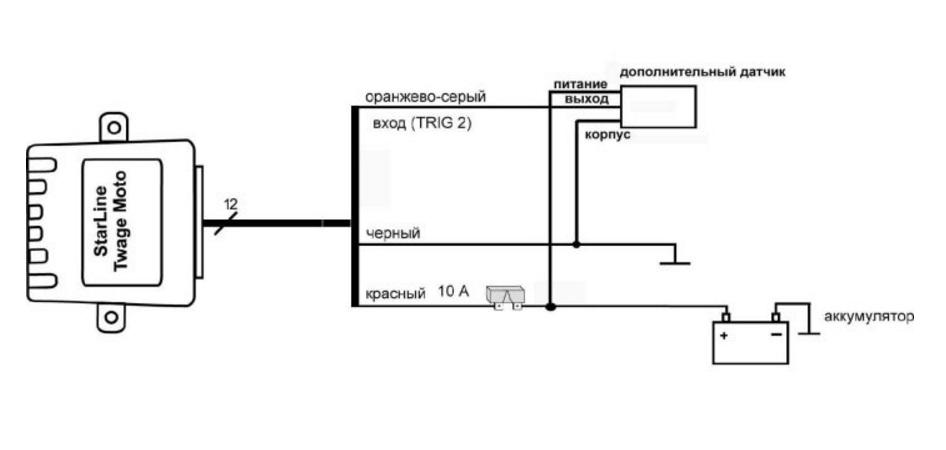 примерная схема установки датчика