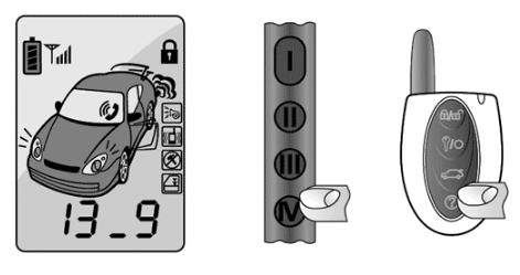Нажатие клавиши IV