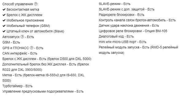 Характеристики dxl 5000
