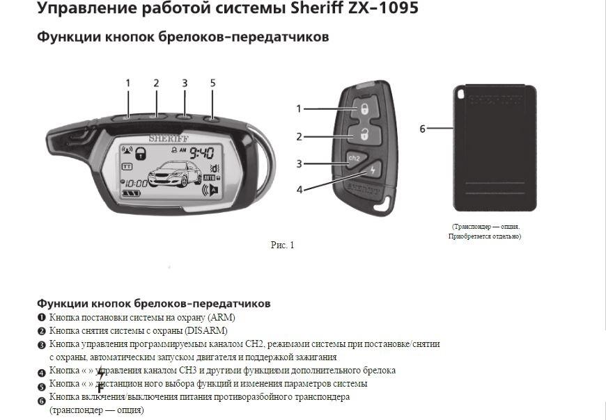 Инструкция по настройке sheriff zx 777