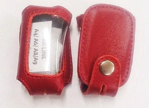 Чехол красный кожаный StarLine A4
