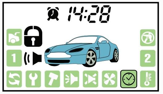 Отображение информации об активированном автозапуске по будильнику
