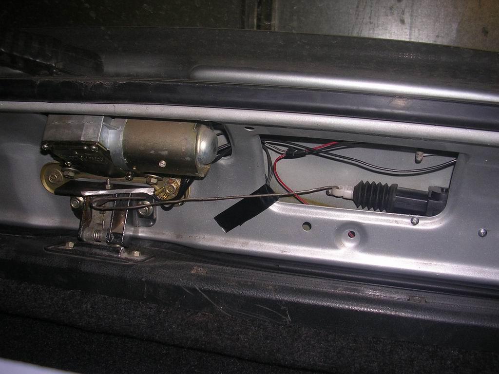 Соединение в багажнике