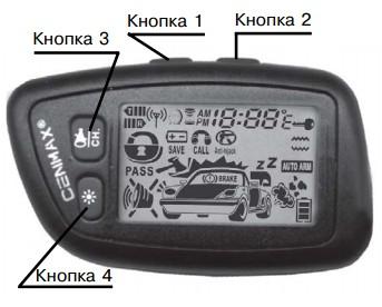 сигнализация cenmax инструкция по эксплуатации v5a