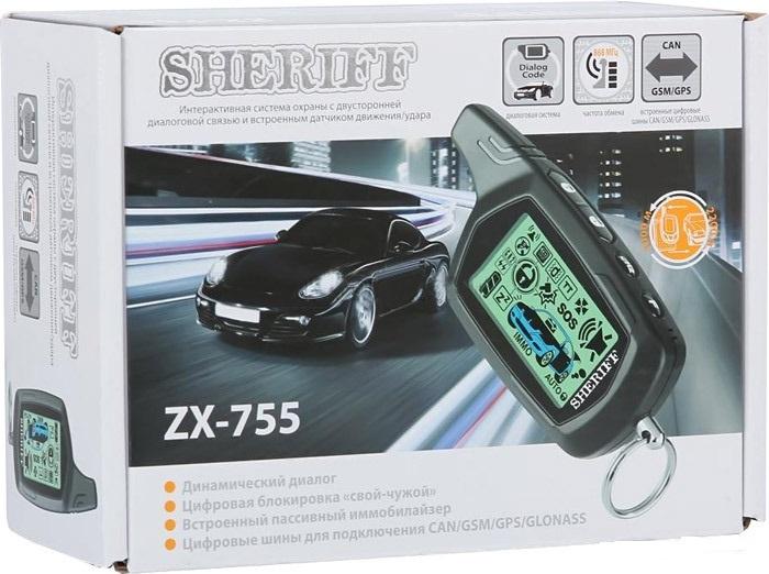 Sheriff zx-755: комплектация сигнализации, характеристики, инструкция.